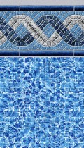 Greystone inground pool liner pattern in 20 or 30mil