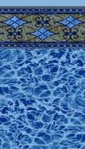 Las Olas Blue Diffusion inground liner pattern