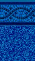 Mosaic Wave inground pool liner pattern