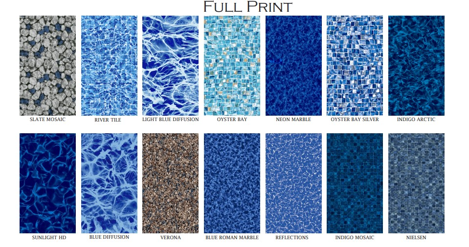 Full print liner patterns