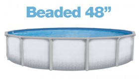 "Above Ground Round 28ft. Beaded 48"" Liner"