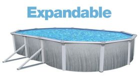 Above Ground Oval 12 x 18 Ft. Expandable Liner