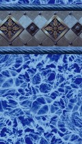 Blue Bayview inground pool liner pattern - EZPoolLinerDirect.com