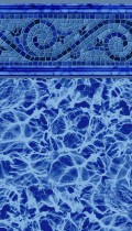 Siesta Wave Blue inground pool liner pattern